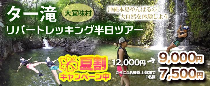 大宜味村、ター滝トレッキングツアー